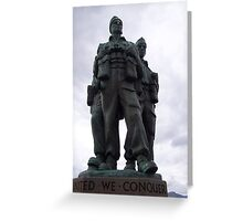 Commando Memorial, Spean Bridge, Highlands Greeting Card