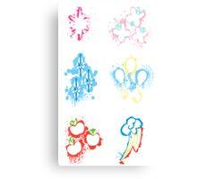 MLP Splatter Cutie Marks Canvas Print