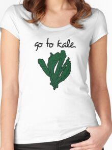 go to kale. (kale) <script> Women's Fitted Scoop T-Shirt