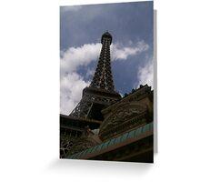 Eiffel Tower, Paris Casino, Las Vegas, Greeting Card