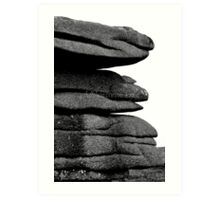 The stack (Landscape black and white) Art Print