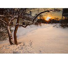 Blizzard setting Photographic Print