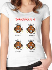 Dangerous four Women's Fitted Scoop T-Shirt