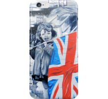 girl with union jack iPhone Case/Skin