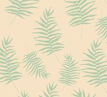 Pastel ferns leaves by dairinne