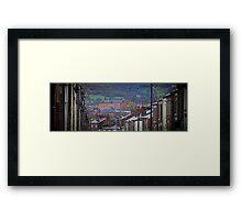 """Macclesfield - """"Hills & Mills"""" Framed Print"""