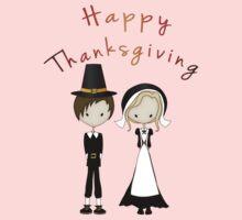Cute Cartoon Thanksgiving Pilgrims Kids Clothes