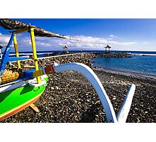 Traditional Balinese Fishing Boat Photographic Print