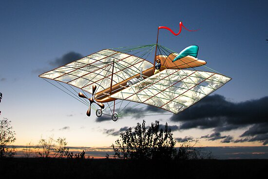 French Steam Powered Monoplane 1874 by Dennis Melling