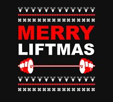 Merry Liftmas, Weightlifting Christmas Ugly Sweater Long Sleeve T-Shirt