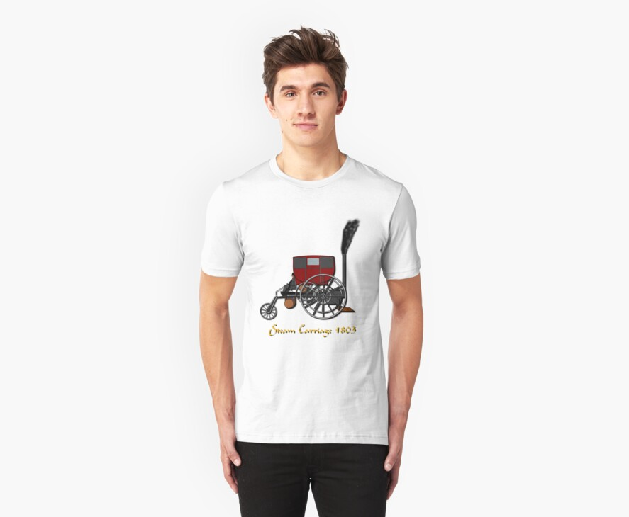 Richard Trevithick's London Steam Carriage 1803 T-shirt by Dennis Melling