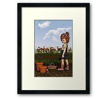 Georgia The Garden Girl Framed Print