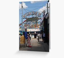 Uncle Sam at Coney Island Greeting Card