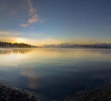 Morning Water Panorama by Will Rynearson