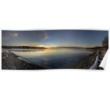 Morning Water Panorama Poster