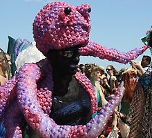 Octopus Man, Mermaid Parade, Coney Island by Katherine Case