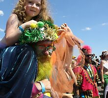 Poseidon & Mermaid, Mermaid Parade, Coney Island by Katherine Case