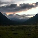 Sunset from Ryvoan bothy  by Middlemiss11