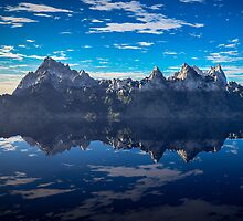 Rocky Island in the Blue by EthanMcFenton