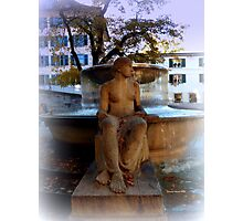 LADY BY FOUNTAIN Photographic Print