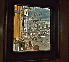 Quarterdeck of Balcutha From Captain's Cabin by Scott Johnson