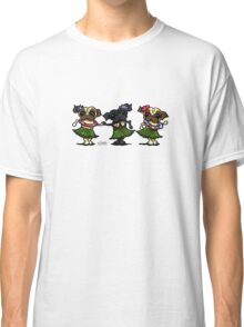 Hula Dancer Pugs Classic T-Shirt