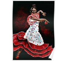 Poka dot and Flamenco Poster