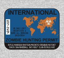 International Zombie Hunting Permit One Piece - Long Sleeve