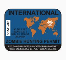 International Zombie Hunting Permit Kids Tee