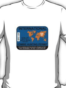 International Zombie Hunting Permit T-Shirt