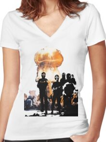 Atomic Riot Women's Fitted V-Neck T-Shirt