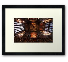 Look Up ! || Ceiling at Glasgow Cathedral, Glasgow Framed Print