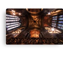 Look Up ! || Ceiling at Glasgow Cathedral, Glasgow Canvas Print
