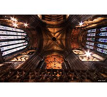 Look Up !    Ceiling at Glasgow Cathedral, Glasgow Photographic Print
