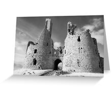 Dunstanburgh Castle in Infrared Greeting Card