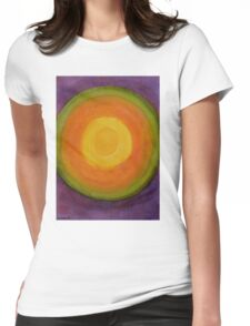 Sun above purple Sky Womens Fitted T-Shirt