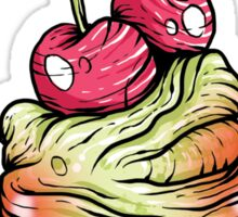 Cherry Cupcake Sticker