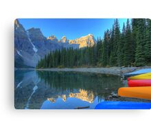 Moraine Lake and Caneos Canvas Print
