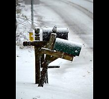 Mail Boxes In Winter - Middle Island, New York by © Sophie W. Smith