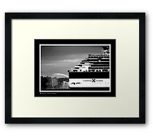 very big outboard Framed Print