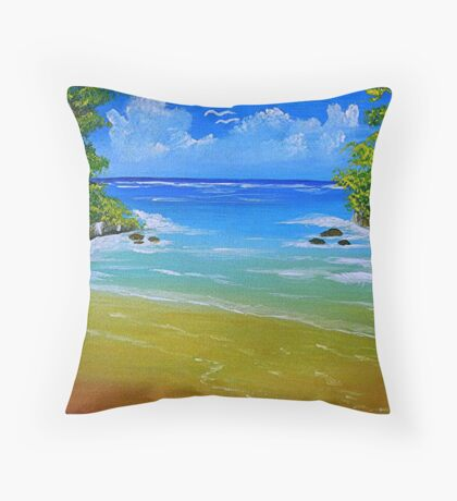Off for a Swim Throw Pillow