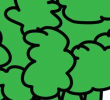 eat me. (broccoli) Sticker