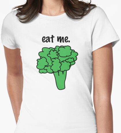 eat me. (broccoli) Womens Fitted T-Shirt