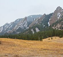 Flatirons Boulder Colorado Winter View  by Bo Insogna