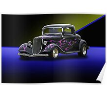 1934 Ford 3-Window Coupe Poster