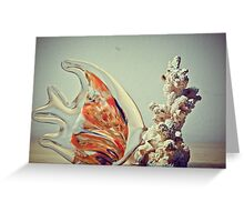 Fish Kissing Coral Reef Greeting Card