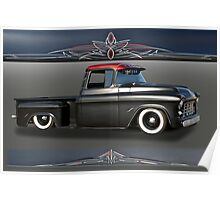 1956 Chevrolet Low-Rider Pick-Up Poster