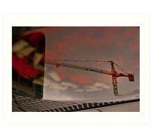 Crane in an Ashtray Art Print
