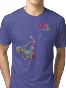Mary Poppins Silhouette Watercolor Tri-blend T-Shirt