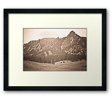 Three Flatirons Boulder Colorado Back In The Day Framed Print